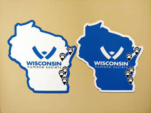 Wisconsin Humane Society State Logo Magnet