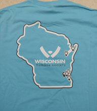 Load image into Gallery viewer, Wisconsin Humane Society State Logo Tee