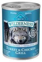 Load image into Gallery viewer, Blue Buffalo Wilderness Turkey & Chicken Grill Canned Dog Food