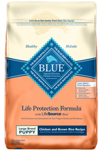 Load image into Gallery viewer, Blue Buffalo Life Protection Natural Chicken & Brown Rice Recipe Large Breed Puppy Dry Dog Food