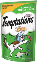 Load image into Gallery viewer, Temptations Seafood Medley Flavor Cat Treats