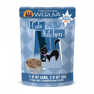 Weruva Cats In the Kitchen 1 If by Land 2 If by Sea Pouches Wet Cat Food