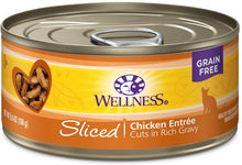 Load image into Gallery viewer, Wellness Grain Free Natural Sliced Chicken Entree Wet Canned Cat Food
