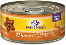 Load image into Gallery viewer, Wellness Grain Free Natural Minced Chicken Dinner Wet Canned Cat Food