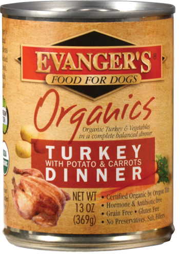 Evangers 100% Organic Turkey with Potato And Carrots Canned Dog Food