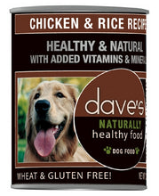 Load image into Gallery viewer, Dave's Naturally Healthy Chicken And Rice Canned Dog Food