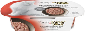 Fancy Feast Purely Natural SkipJack Tuna Entree Cat Food Tray