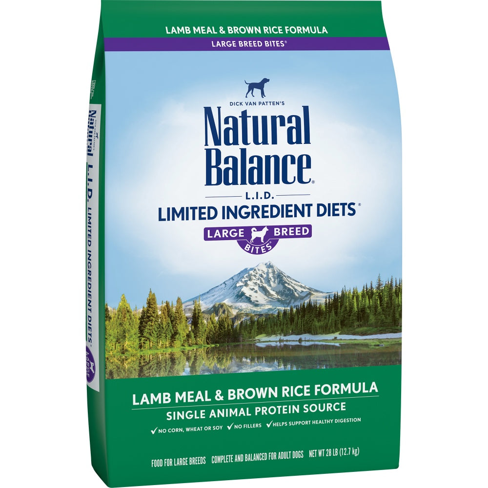 Natural Balance L.I.D. Limited Ingredients Diet Lamb & Brown Rice Large Breed Bites Dry Dog Food