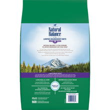 Load image into Gallery viewer, Natural Balance L.I.D. Limited Ingredients Diet Lamb & Brown Rice Large Breed Bites Dry Dog Food