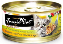 Load image into Gallery viewer, Fussie Cat Premium Tuna with Anchovies Formula in Aspic Canned Food