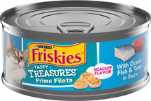 Load image into Gallery viewer, Friskies Tasty Treasures Prime Fillet with Ocean Fish & Tuna Scallop Flavor Canned Cat Food