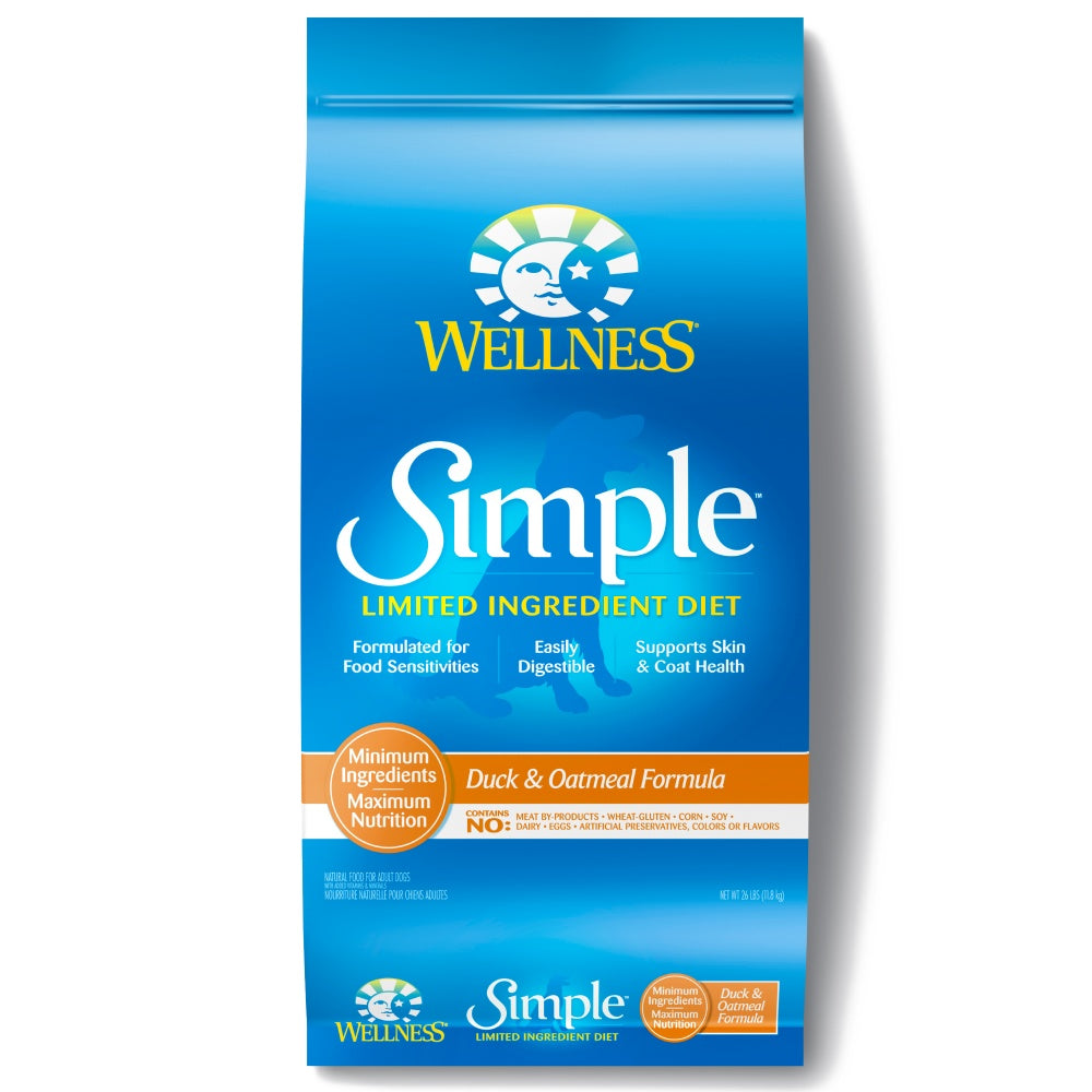 Wellness Simple Natural Limited Ingredient Diet Duck and Oatmeal Recipe Dry Dog Food