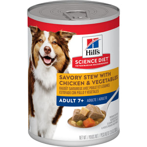 Hill's Science Diet 7+ Savory Stew Chicken & Vegetables Canned Dog Food