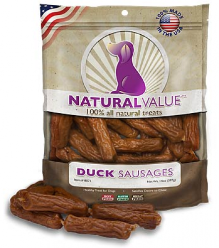 Loving Pets Natural Value Duck Sausages Dog Treats