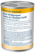 Load image into Gallery viewer, Blue Buffalo Wilderness Healthy Weight Grain Free Turkey & Chicken Grill Adult Canned Dog Food