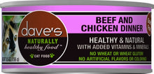 Load image into Gallery viewer, Dave's Naturally Healthy Beef and Chicken Canned Cat Food