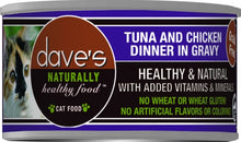 Load image into Gallery viewer, Dave's Naturally Healthy Tuna and Chicken Dinner in Gravy Canned Cat Food