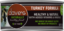 Load image into Gallery viewer, Dave's Naturally Healthy Turkey Formula Canned Cat Food