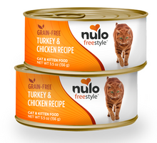 Load image into Gallery viewer, Nulo FreeStyle Grain Free Turkey & Chicken Recipe Canned Kitten & Cat Food