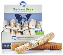Load image into Gallery viewer, Barkworthies Beef Trachea Dog Treats