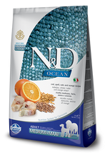 Load image into Gallery viewer, Farmina Ocean N&D Natural & Delicious Medium & Maxi Adult Cod, Spelt, Oats & Orange Dry Dog Food