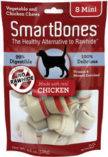 Load image into Gallery viewer, SmartBones Mini Chicken Chew Bones Dog Treats