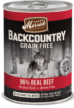 Load image into Gallery viewer, Merrick Backcountry Grain Free 96% Beef Recipe Canned Dog Food