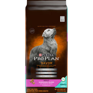 Purina Pro Plan Savor Adult Shredded Blend Salmon & Rice Formula Dry Dog Food