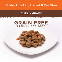 Load image into Gallery viewer, Nutro Hearty Stew Tender Chicken, Carrot & Pea Stew Cuts in Gravy Adult Canned Dog Food