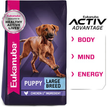 Load image into Gallery viewer, Eukanuba Large Breed Puppy Chicken Formula Dry Dog Food
