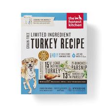 Load image into Gallery viewer, The Honest Kitchen Limited Ingredient Grain Free Turkey Recipe Dehydrated Dog Food