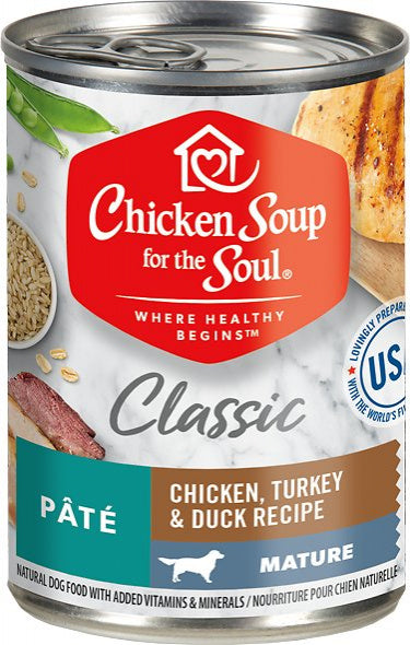 Chicken Soup For The Soul Mature Chicken, Turkey & Duck Recipe Canned Dog Food