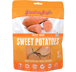 Grandma Lucy's Singles Freeze Dried Sweet Potatoes Single Ingredient Dog Treats