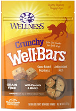 Load image into Gallery viewer, Wellness Natural Grain Free Wellbars Crunchy Peanut and Honey Recipe Dog Treats