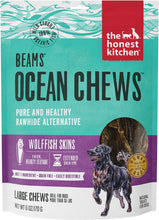 Load image into Gallery viewer, The Honest Kitchen BEAMS Grain Free Large Ocean Chews Wolffish Skin Dog Treats