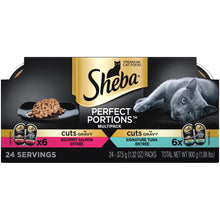 Load image into Gallery viewer, Sheba Perfect Portions Cuts in Gravy Multipack with Salmon and Tuna Wet Cat Food