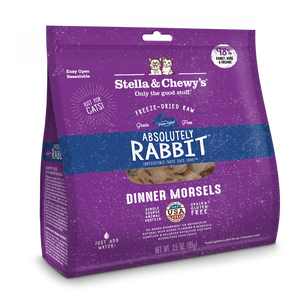 Stella & Chewy's Absolutely Rabbit Dinner Morsels Grain Free Freeze Dried Raw Cat Food