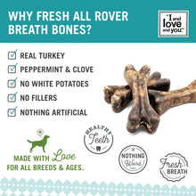 Load image into Gallery viewer, I and Love and You Fresh All Rover Regular Breath Bones Dog Chews