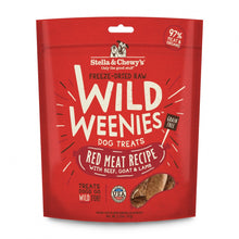Load image into Gallery viewer, Stella & Chewy's Wild Weenies Grain Free Red Meat Recipe Freeze Dried Raw Dog Treats