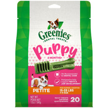 Load image into Gallery viewer, Greenies 6+ Months Puppy Petite Dental Dog Treats
