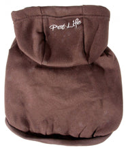 Load image into Gallery viewer, Pet Life Fashion Plush Cotton Hooded Brown Dog Sweater