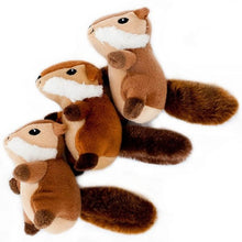Load image into Gallery viewer, ZippyPaws Miniz Chipmunks 3-Pack Plush Dog Toys