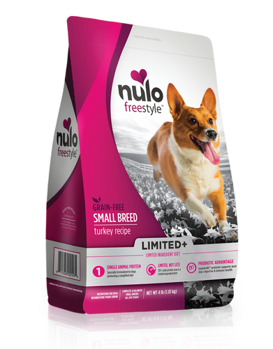 Nulo FreeStyle Limited+ Grain-Free Turkey Recipe Small Breed Puppy & Adult Dry Dog Food