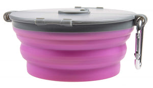 Loving Pets Pink Bella Travel Bowl