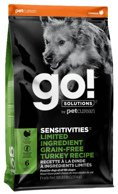 Petcurean GO! Solutions Sensitivities Limited Ingredient Turkey Recipe Dry Dog Food