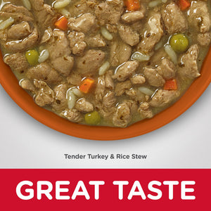 Hill's Science Diet Adult Sensitive Stomach & Skin Tender Turkey & Rice Stew Canned Dog Food