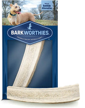 Load image into Gallery viewer, Barkworthies Split Elk Antler Dog Chew for Puppies & Small Breed Dogs