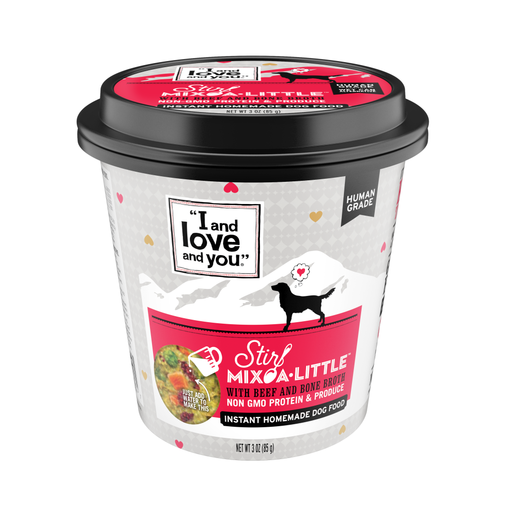 I and Love and You Stir-Mix-A-Little Beef & Bone Broth Instant Home Made Dog Food