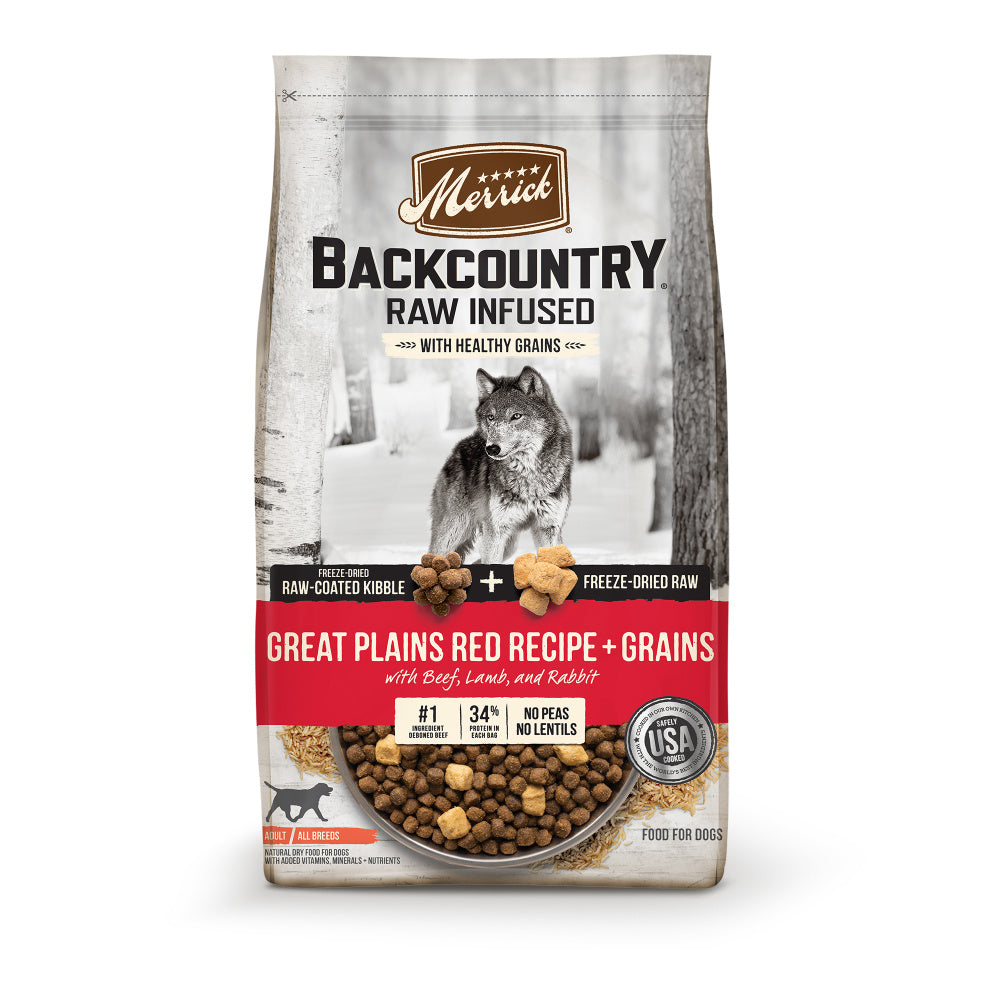 Merrick Backcountry Raw Infused with Healthy Grains Great Plains Red Recipe Dry Dog Food