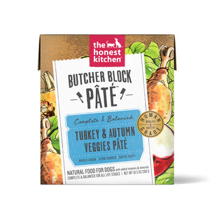 The Honest Kitchen Butcher Block Pate Turkey & Autumn Veggies Grain Free Recipe for Dogs